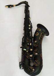 Новый высококачественный японский Suzuki тенор-саксофон Bb музыкальный инструмент черный никель золото Сакспрофессиональный профессиональный Бесплатная доставка на Распродаже