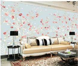 $enCountryForm.capitalKeyWord NZ - Custom anys size photo 3d wallpapers Hand painted plum TV background wall