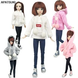 barbie clothing Australia - Fashion Doll Clothes Sweatshirt Coat For Barbie Doll Clothes For Barbie Doll Outfits Pants Canvas Shoes 1 6 Dolls