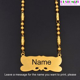 Necklaces Pendants Australia - Anniyo Personalized Name Pendant Necklaces For Women Men Marshall Jewelry Micronesiab Hawaii Gift Customize Letters #072321 J190531