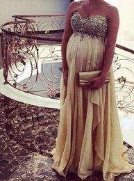 c3f591fb3 Champagne novia de maternidad vestidos de noche 2019 baratos largos vestidos  de fiesta elegantes vestidos formales fiesta robe de soiree 41