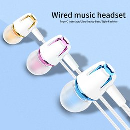 Phone Types Australia - Wired Earphone Electroplating Bass Stereo In-ear with Mic Call Phone Earphone Earbuds earphone USB type-c wire control