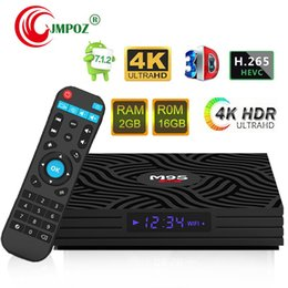 Uhd Tv Box Australia - 2019 M9S W6 Android 7.1 TV Box 4K UHD Media Player Amlogic S905W Quad-core ARM Cortex-A53 CPU DDR3 2GB 16GB 2.4G WiFi IPTV 4K