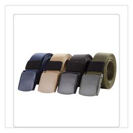 $enCountryForm.capitalKeyWord Australia - Wholesale Fashion Automatic Buckle Nylon Belt Male Army Tactical Belt Mens Military Waist Canvas Belts Survival 125CM Hot Sale