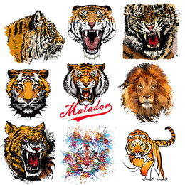 Animal Patches For Clothes Australia - Animals Patches Washable Iron-on Transfers for T-Shirt Jacket DIY Punk Stickers Clothes Stickers Lovely Tiger Appliques