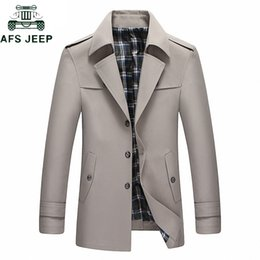 $enCountryForm.capitalKeyWord NZ - 2019 Business Casual Trench Coat Jacket Men high quality Solid Color Long Trenchcoat Masculina Windbreaker Outwear Big Size 4XL