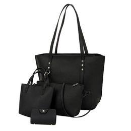 0179fcf31627 ISHOWTIENDA Female Large Capacity 4Pcs Sets Handbags Pattern Leather  Shoulder Bag Crossbody Bag Handbag Wallet  WL