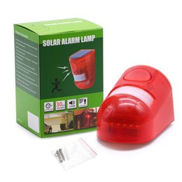 pir home alarm security Australia - Security Alarm Solar Power Alarm Lamp Light IP65 Waterproof 110dB Loud Siren Built-in PIR Motion Sensor For Home Yard Outdoor