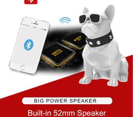 usb spdif 2019 - Explosive Bulldog Super Subwoofer Speaker Wireless Bluetooth Speaker Support U Disk TF Card Memory Card Computer Phone P