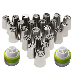 $enCountryForm.capitalKeyWord Australia - 24Pcs Set 304 Stainless Steel Russian Cake Nozzle Cake Icing Nozzles Piping Nozzles Cake Decorating Tools