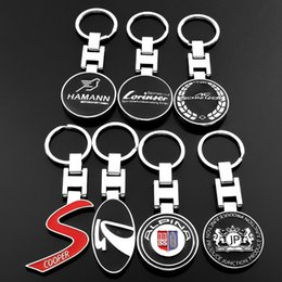 Cooper Chains Australia - Classic Key Chain Metal Benz Lorinser Car Logo Pendant Keychain Crest Keyring Keyfob Gift MINI Cooper S Benz JP KEYCHAINS