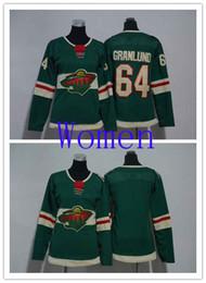 $enCountryForm.capitalKeyWord Australia - Hot Sale Women Minnesota Wild 64 Mikael Granlund Green Home Ice Hockey Jersey Blank Woman Stitched NHL Jerseys