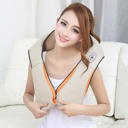 U Shape Electrical Shiatsu Back Neck Shoulder Massager body infrared 3D kneading massager EU UK plug on Sale