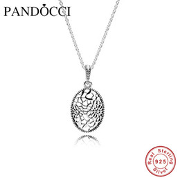 925 silver chains Australia - Genuine 925 Sterling-Silver-Jewelry Necklaces for Women Floral Daisy Lace Silver Pendant and Necklace 60cm Silver Chain
