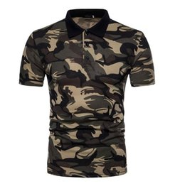 camouflage polo shirts men NZ - Zogaa Men Polo Shirt Short Sleeve Brand Camouflage Polos Male Tops Casual Slim Printed Military Polo Shirt Men Streetwear T200528