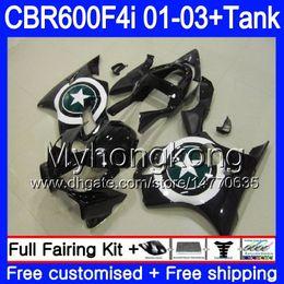 Star compreSSion online shopping - Body Black stars frame Tank For HONDA CBR F4i CBR600FS CBR600F4i HM CBR600 F4i FS CBR F4i Fairings