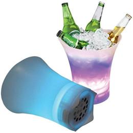 $enCountryForm.capitalKeyWord Australia - LED audio ice bucket 7 colorful gradient luminous plastic champagne drink ice bucket Bluetooth speaker family wedding party