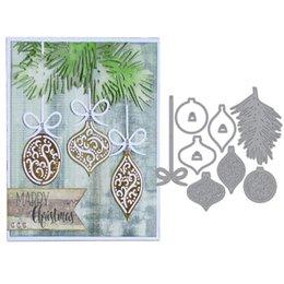 Paper Hang Diy Australia - wholesale Christmas Hanging Pendant Craft Metal Steel Cutting Dies Paper Cards Embossing Die Cut Stencils For Diy Decor Scrapbooking