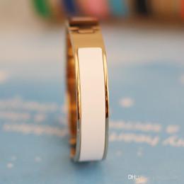Yellow Gold 18k Bangle Australia - 2017 Hot love Enamel Titanium Steel Men bangles & bracelets, Yellow gold Rose gold Silver Metal colors Fashion Jewelry with Orange Box