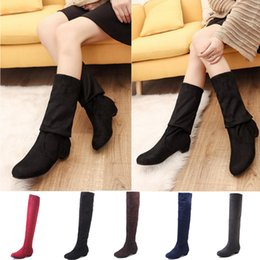 Brown Stretch Knee High Boots Australia - Thigh High Boots Female Winter Boots Women Over the Knee black Flat Stretch Sexy Fashion Shoes knee high women shoes