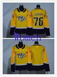 $enCountryForm.capitalKeyWord Canada - Wholesale Nashville Predators Women 76 P.K Subban NHL Jerseys Woman Blank Yellow Home Stitched Ice Hockey Jersey