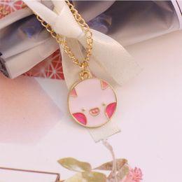 $enCountryForm.capitalKeyWord Australia - DIY Pig Animal Pendant Necklace For Women Girls Handmade Enamel Cute Gold Long Chain Necklaces Choker Lovely Jewelry Gifts 2019