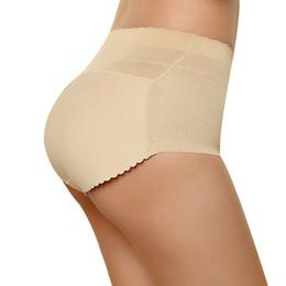 China Women Sponge Padded Abundant Buttocks Pants Lady Push Up Middle Waist Padded Panties Briefs Underwear supplier padded buttocks pants suppliers