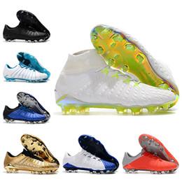 3e2c4c7ed10 2018 World Cup Mens High Ankle Football Boots Hypervenom Phantom III DF FG  Soccer Shoes Original Superfly Hypervenom II ACC Soccer Cleats