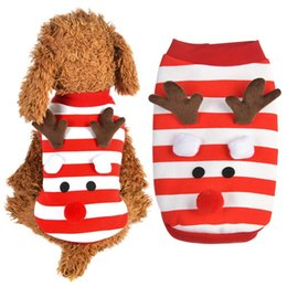 cute cat cosplay Canada - Christmas Dog Casual Coat Christmas Cute Elk Cosplay Dog Costume Clothes Cat Santa Pet Shirt Puppy Clothes Supplies