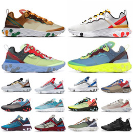 Women sport body online shopping - 2019 New Undercover x React Element Running Shoes for Men Women Tour Yellow Orange Pee Thunder Blue Mens Trainers Sports Sneakers