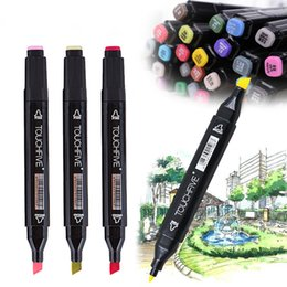 $enCountryForm.capitalKeyWord Australia - Art supplies markers Single copic Oily Alcohol Markers Dual Head Based Sketch Marker Pen Drawing Artist Manga Design
