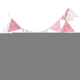 Wholesale Wedding Decoration Handmade Fabric Bunting Pennant Party Decoration Banner Garden Party Supplies m Flags