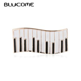 Keyboard instrument online shopping - Blucome Vivid Enamel Piano Keyboard Brooches Music Pianist Badge Harajuku Musical Instrument Lapel Pins Banquet Gifts For Friend