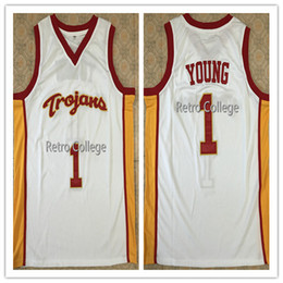c6d8cbeaec2 #1 Nick Young USC Trojans Retro College Basketball Jersey All Size  Embroidery Stitched Customize any name and name XS-6XL vest Jerseys Ncaa
