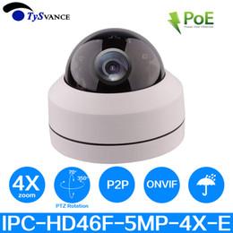 Mini Hd Poe Security Camera Australia - PoE Onvif HD 5MP H.265 IR Indoor Mini 5.0MP CCTV Security IP PTZ Dome Camera 4X Optical Zoom Home Network 5Mega