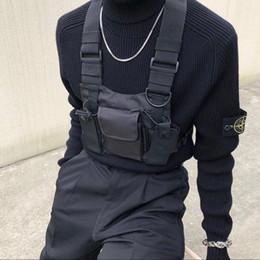 Black tactical vests online shopping - 2019 Polyester Chest Rig Bag Black Vest Hip Hop Streetwear Functional Tactical Harness Chest Rig Kanye West Wist Pack Chest Bag