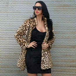 sexy leopard clothing for women Canada - Leopard print fur jacket for women luxury designer faux fur jackets womens fall winter sexy party coat vintage coats clothing gf gift ML