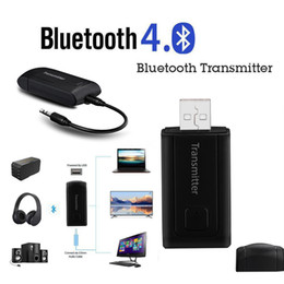 bluetooth phone adapter for car 2019 - Wireless Bluetooth Transmitter For TV Phone PC Y1X2 Stereo Audio Music Adapter dfdf car cheap bluetooth phone adapter fo