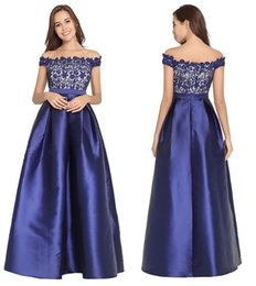 $enCountryForm.capitalKeyWord Australia - Satin Cheap African Prom Dresses Cap Sleeve Lace Satin Zipper A Line Long Women Formal Evening Dresses Homecoming Party Gowns DH4281