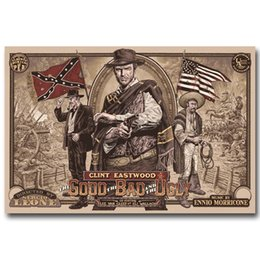 $enCountryForm.capitalKeyWord UK - The Good, the Bad and the Ugly Classic wall decor Art Silk Print Poster 91598