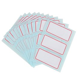 price tags stickers UK - 34*73mm New Self-adhesive paper label handwritten Price Tag Office School Business Classification Adhesive Stickers Free Shipping