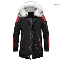 Famous Parka Brands Australia - down jacket Men Winter Jackets Coats Black Warm Down Jacket Outdoor Hooded Fur Mens Thick Parkas Plus Size Famous Brand M-3XL