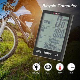 Bicycle Wireless Lcd Australia - computer BOGEER Wireless Computer Stopwatch with LCD Backlight for Cycling Riding Water Resistant Bicycle Speedometer Odometer