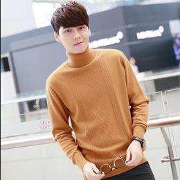 $enCountryForm.capitalKeyWord Australia - S-4xl New Arrive Male Pullovers Cashmere Sweater Men Sweater Solid Man Basic Turtleneck