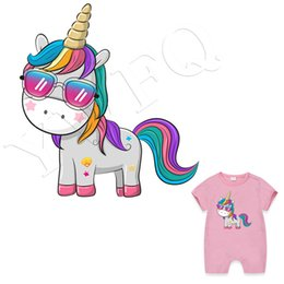 $enCountryForm.capitalKeyWord NZ - Unicorn Patches Children T-shirt Dresses Stickers Washable Heat Transfer Badges Appliqued DIY Cartoon Parches Popular Sticker Dropshipping
