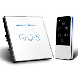 Dimming Light Switch Australia - EU UK Standard Wireless Remote Control Dimmer Light Switch 1 Gang Touch Panel 110V to 240V Blue LED Backlight DIY Smart Home