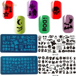 $enCountryForm.capitalKeyWord Australia - 12Pcs Nail Art Stamping Plates Stainless Steel Template Manicure Stencil Design Halloween Print Nail Template Christmas Gift