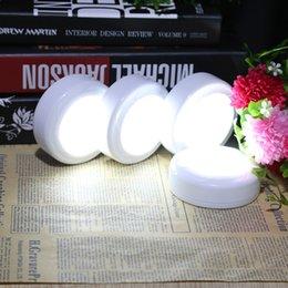 Round Kitchen Sets Australia - Lightme Night Light 4pcs Set Wireless Puck Light LED Cabinet Lamp Dimmable LED Puck Light Downlight For Kitchen Wardrobe Closet Night Lamp