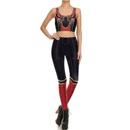 $enCountryForm.capitalKeyWord UK - 2019 new European and American red spider cosplay digital printing tight elastic vest leggings