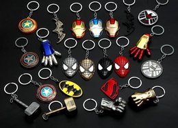 game keys wholesale Australia - 2018 new Super Heroes Captain America Superman Spiderman Batman Iron Man Game of Thrones Keychain Key rings Fashion Jewelry Christmas Gift